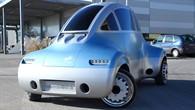 """Das vom DLR entwickelte robotische Elektromobil """"Robomobil""""."""