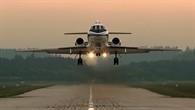 Landeanflug der Falcon 20E