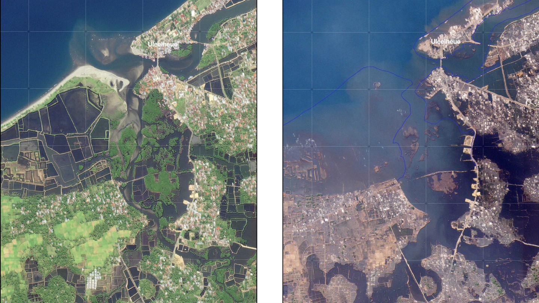Tsunami 2004 Sri Lanka Karte.Tsunami Thailand Indonesien Zki Katastrophe Satellitenbild