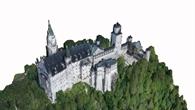 Schloss Neuschwanstein: Seitenansicht