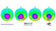 Ozonloch%2dMessungen im Jahresvergleich