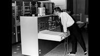 Der Rechnerraum des Raumflugbetriebes (GSOC) 1969