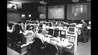 MIssionskontrollraum für D1 im GSOC in Oberpfaffenhofen 1985