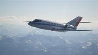 Die Falcon im Flug