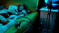 Testperson während der Schlafstudie
