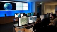 Blick ins Zentrum für Satellitengestützte Kriseninformation des DLR