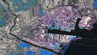 Die Zerstörungen im Hafen von Sendai nach dem Tsunami