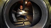 Vorbereitungen für den Sheffex II %2d Test im Windkanal
