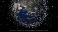 Darstellung des Weltraummülls