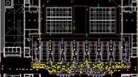 Beispielsimulation eines Wartebereichs am Flughafen mit anschließender Sicherheitskontrolle.