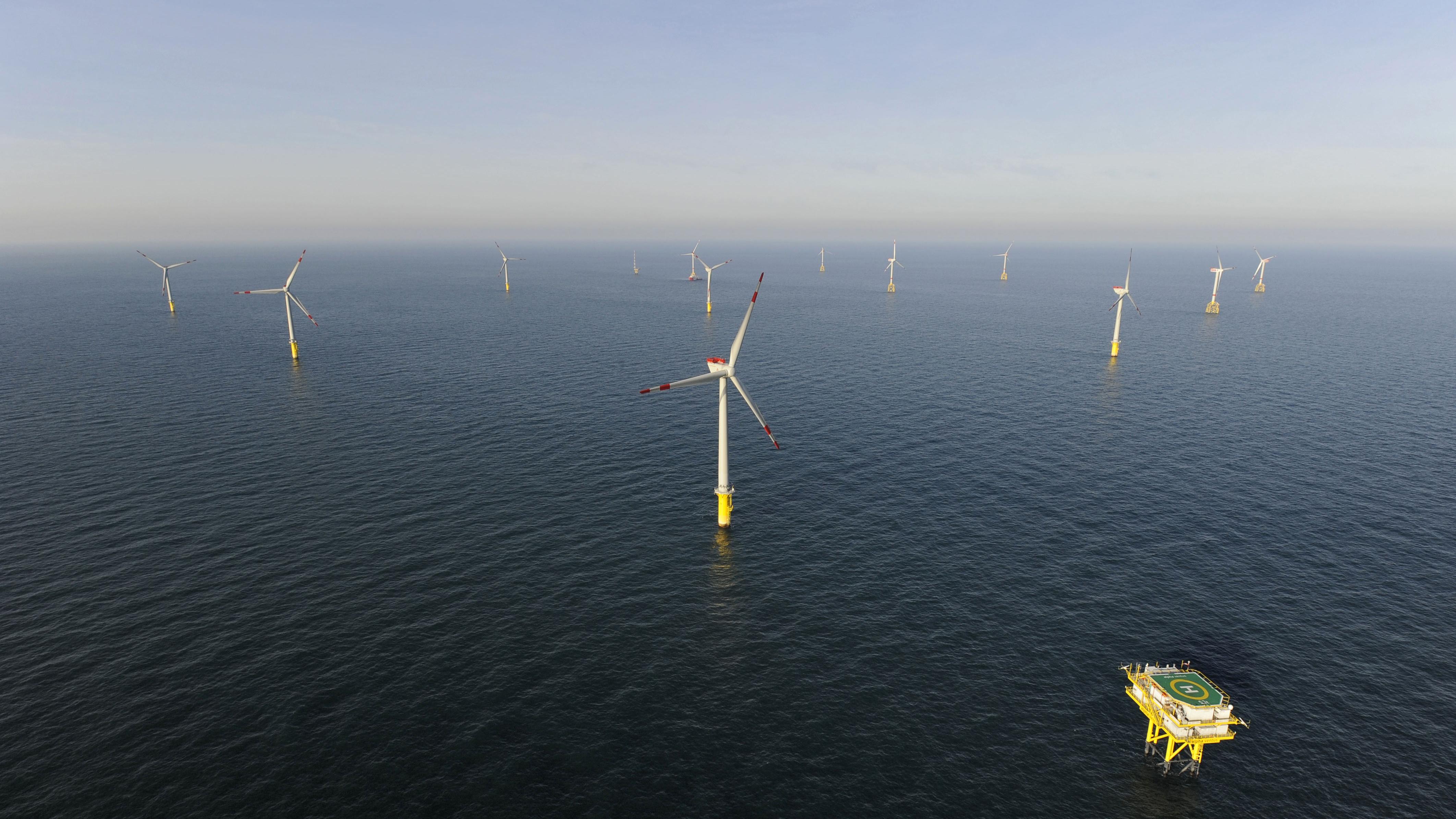 Windrader in der nordsee