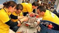 Das EXPLORE%2dStudententeam testet sein Experiment