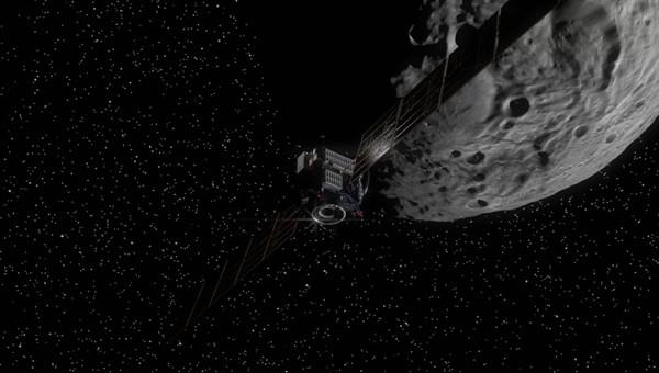 animation virtueller flug ber den asteroiden vesta. Black Bedroom Furniture Sets. Home Design Ideas