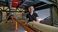 Daniela Heine untersucht Möglichkeiten die Druckwellen von Zügen bei Tunneleinfahrten zu verringern
