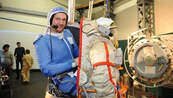 Alexander Gerst beim Training im Sternenstädtchen nahe Moskau