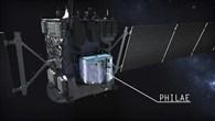 Der Lander Philae an Bord der europäischen Sonde Rosetta