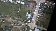 Luftaufnahme der Katastrophenübung in Lehnin