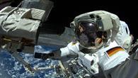 Alexander Gerst bei seinem EVA an der ISS