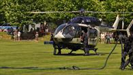 Hubschrauber einer Sondereinheit der Hessischen Polizei