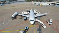 Abfertigung einer Germanwings%2dMaschine Flughafen Köln/Bonn
