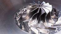 Nahaufnahme Mikrogasturbine Turbinenrad