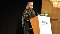 Die DLR%2dVorstandsvorsitzende Prof. Pascale Ehrenfreund bei ihrem Grußwort