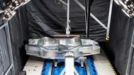 Fertig für den Test: SLRV%2dKarosserie vor dem Crashversuch