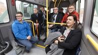 Erste Fahrt des flexiblen Bedarfsbusses