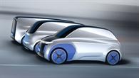 Visualisierung des Urban Modular Vehicle (UMV) des DLR