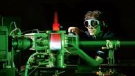 Gasturbinenprüfstand im Institut für Verbrennungstechnik