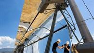 Parabolrinnen%2dKollektoren für Solarkraftwerke
