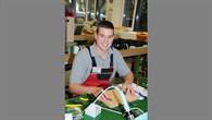 Jonas Winter vom DLR Stuttgart bei der Vorbereitung für den Bundesleistungswettbewerb