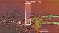 Topographische Übersichtskarte von Noctis Labyrinthus