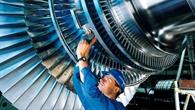 Dampfturbinenrotor hergestellt von Siemens, Deutschland