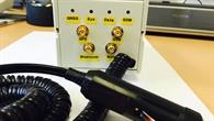 Testgerät mit integriertem Sensorsystem