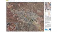 Geographische Referenzkarte von Harar in Äthiopien