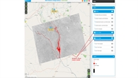 Satellitengestützte Informationen zu überfluteten Bereichen in der Nähe eines SOS Kinderdorfes