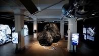 Modell des Kometen Churyumov%2dGerasimenko in der Ausstellung