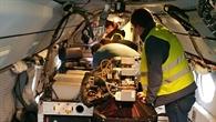 Lidar%2dMessgerät an Bord von HALO