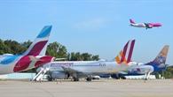 Low Cost Flieger am Flughafen Köln Bonn