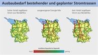 Ausbaubedarf Stromnetz in Deutschland