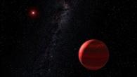 Exoplanet umkreist Roten Zwerg (künstlerische Darstellung)