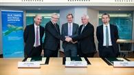 DLR, Airbus und ONERA besiegeln das gemeinsame Abkommen.