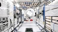 Fotomontage von CIMON auf der ISS