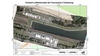 Luftbildmosaik der Feuerwache 5 in Duisburg