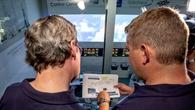 Launch%2dÜbertragung auf der GCC%2dBesucherbrücke