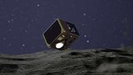 Mascot sinkt auf den Asteroiden