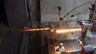 Versuchslaufs mit Brennkammer ARIEL