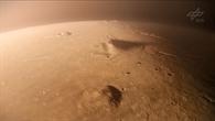 Flug über die InSight%2dLandestelle in Elysium Planitia