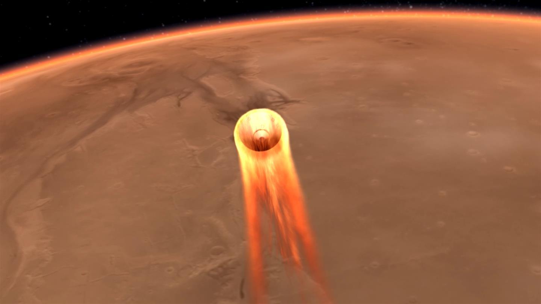 DLR-Marsmaulwurf HP3 vor der Landung mit der NASA-Mission InSight